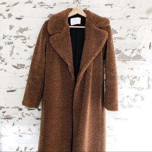 Zara long teddy coat